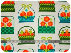 beautiful baskets vintage fabric