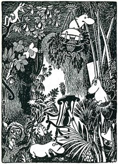 Illustration by Tove Jansson from  Finn Family Moomintroll