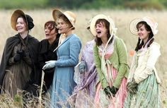 The Miss Bennets (Jane, Elizabeth, Mary, Kitty and Lydia) in Pride and Prejudice 2005. Jane Austen