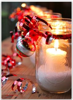 Adorable.  Simple.  Inexpensive.  Notice the salt in the jar.