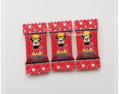 50 Balas Personalizadas Mickey Vintage