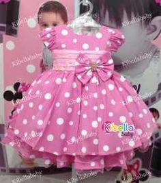 Vestido Infantil Da Minnie Tam. 1 / 3 - R$ 129,90 Cute Toddler Girl Clothes, Toddler Dress, Baby Dress, Fashion Kids, Baby Girl Fashion, Little Dresses, Little Girl Dresses, Girls Dresses, Dress Anak