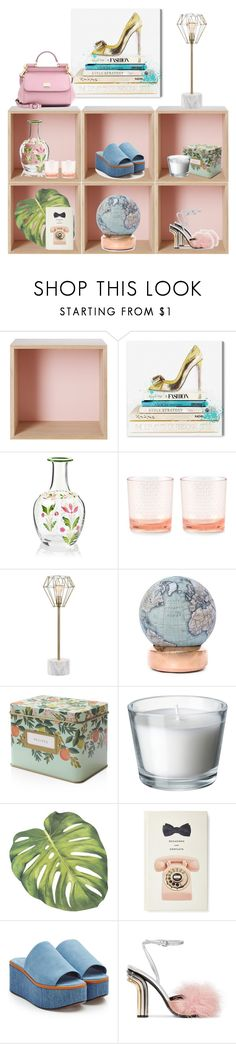 """Cubbies"" by cherieaustin on Polyvore featuring Muuto, Oliver Gal Artist Co., Kate Spade, JAlexander, Bellerby & Co, Rifle Paper Co, Robert Clergerie, Marco de Vincenzo and Dolce&Gabbana"