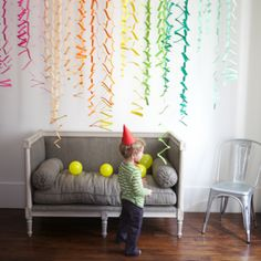 Zig Zag Accordion Streamers {At Home Party Ideas}