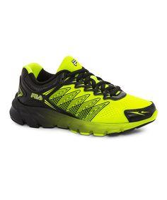 35b6aa047a626 FILA Safety Yellow   Black Speedcross Running Shoe