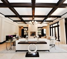 Clean Living contemporary living room by Tuthill Architecture and MJB Design Group.