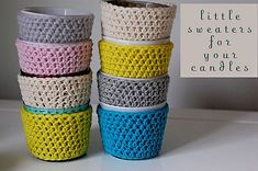 Ravelry: candle cozy pattern by Blair Stocker (FREE PATTERN)