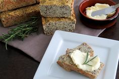 This bread bakes up light with a mild nutty flavor. It does not taste like coconut at all. It's perfect on its own with butter or a slather of cream cheese.