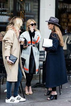 Three ways to wear coats.