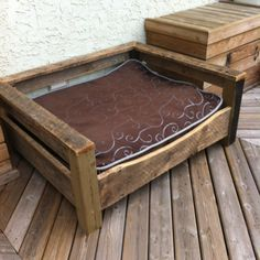Made from another pin idea. Nice dog bed of barn board. Just need his name on it.