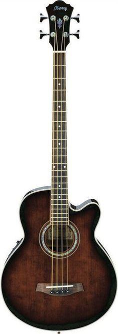 Ibanez AEB10E DVS Acoustic Electric Bass Guitar | Dark Violin Sunburst