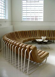Wow. Wouldn't want this for my home, but what a fabulous conversation circle for a workplace! || haldane martin // 2007.