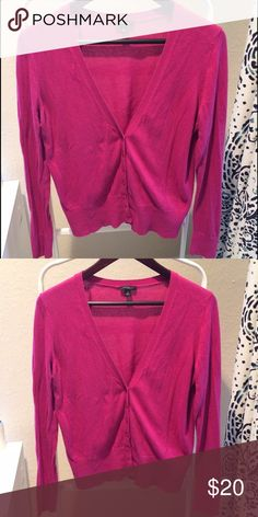 Ann Taylor V-neck Sweater Gently used. This sweater is the most fun pop of color, I always liked adding to an all-black or white outfit. Lightweight enough to be worn in the spring. Color is still very bright and awesome. Some wear under arms. Ann Taylor Sweaters Cardigans