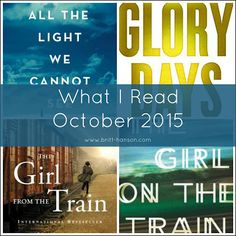 What I Read | October 2015