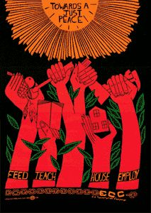 Feed, Teach, House Employ Protest Art, Protest Posters, Political Posters, Political Art, Gravity Art, Peace Poster, Propaganda Art, Magazine Collage, Environmental Art