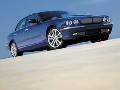 2004 Jaguar XJR--Blue
