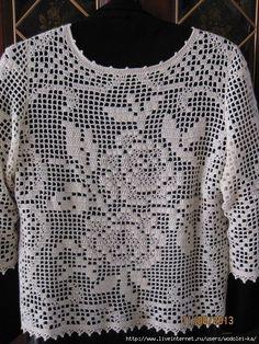 Filet Crochet, Crochet Stitches Chart, Hand Crochet, Crochet Lace, Crochet Jumper Pattern, Crochet Snowflake Pattern, Crochet Blouse, Crochet Summer Tops, Crochet Fashion
