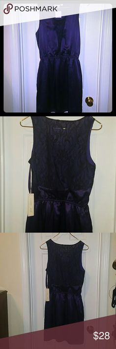 Jenny Han Silk Dress with Lace Accent Beautiful Jenny Han Silk Dress. Size medium. Color: Jacinta (Purple) Perfect dress for the upcoming holiday season. Jenny Han Dresses