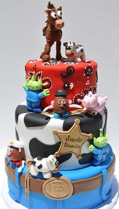 Toy story cake. This looks so cool... I think my brother would like this