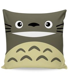 Check out the Totoro couch pillow! Inspired by the popular movie My Neighbor Totoro, this all-over print pillow has Totoro and all his cuteness right on it! Get this fully sublimated Miyazaki pillow f