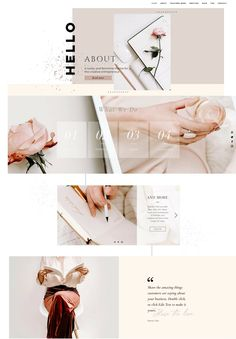 If you're looking for a website that looks amazing and is easy to DIY, let me introduces ISABELLA. Perfect for the DIY site owner that wants to stand out. #wix