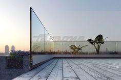Garde-corps d'extérieur / en aluminium / à panneaux en verre / pour terrasse NINFA 170 FARAONE Srl