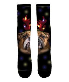 Look at this Airwaves Black Bulldogs Sublimated Socks - Kids on #zulily today!