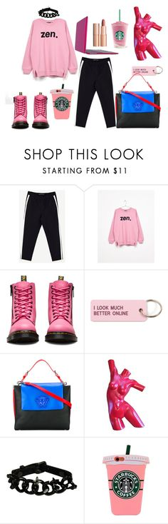 """""""personality"""" by olga-buyanova ❤ liked on Polyvore featuring Bershka, Dr. Martens, Various Projects, Versace, Louis Vuitton and Charlotte Tilbury"""