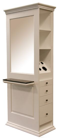 Oxford Styling Station in White. For my mansion Hair Salon Stations, Salon Styling Stations, Home Hair Salons, In Home Salon, At Home Salon Station, Small Salon, Salon Furniture, Salon Style, Salon Design