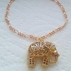 Lovely two toned elephant charm bracelet✨✨