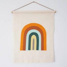Custom colour Rainbow banner wall hanging without writing Rainbow Wall, Banner, Tapestry, Colours, Messages, Writing, Handmade, House, Etsy