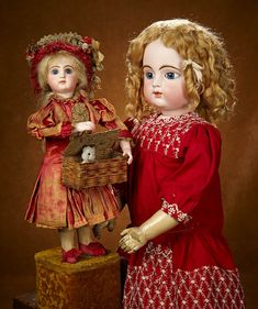 "Tears for Mina - March 17-18, 2018 at the Hyatt Coconut Point, Naples, FL:                       338  French Bisque Musical Automaton ""Little Girl with Puppy Surprise"" by Lambert"