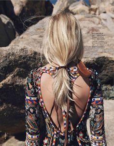 Fashion Editorial Inspiration: Bohemian Embroidered Dress with Open Back #johnnywas