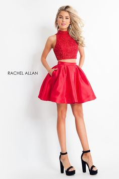 9a8af58a0ce Rachel Allan Shorts 4678 The fabric in this Rachel ALLAN Homecoming style  is Jersey Embroidery Detachable Bow Red size royal size 16
