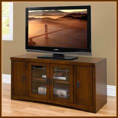 TV Media Console with DVD cabinets  #TVConsole #Mediacabinet