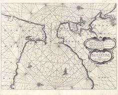 Cádiz. Cartas náuticas. [1662]