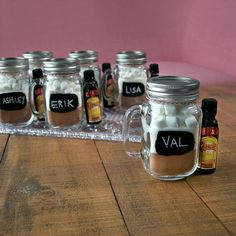 On the sixth day of Kahlua Holiday mix up six mason jars of homemade hot chocolate mix to give out to guests!