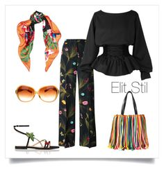 """""""Colorful black"""" by elitstil on Polyvore featuring Emilio Pucci, Valentino, Fendi, Gianvito Rossi and Oliver Peoples"""