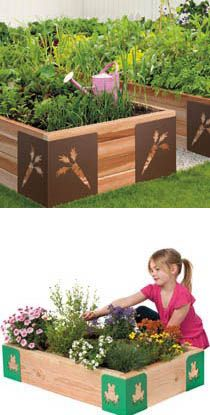 Like the idea of small garden beds for each of the children