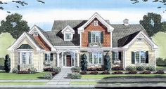 House Plan 50149 | European Plan with 2544 Sq. Ft., 4 Bedrooms, 4 Bathrooms, 3 Car Garage at family home plans