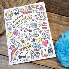 The perfect card for birthdays in the sunshine! ☀️☕️ #unionstreetpapery #nationalletterwritingmonth @idlewildco