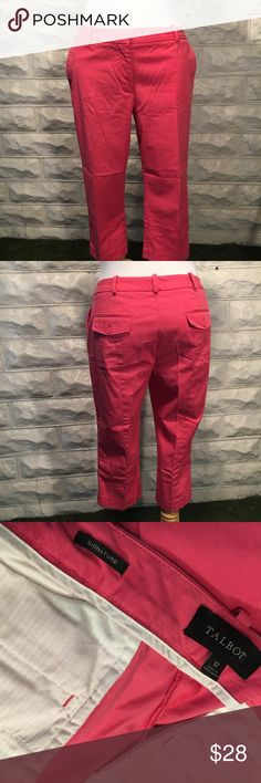 TALBOTS: The most perfect PINK capris With just the right amount of stretch, these capris are amazing for the spring, summer and headed into fall. In EUC; maybe used twice. Love these capris but I have too many and need to make some room in my closet. Talbots Pants Capris