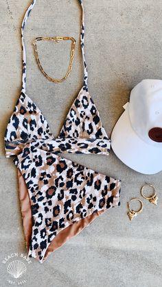 Black Bikini Tops, High Waisted Bikini Bottoms, Leopard Bikini, Halter Bikini, Beach Babe, Triangle Bikini, Bikinis, Swimwear, Swimsuits