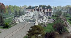 Reconstruction drawing of the Old Summer Palace. Chinese Architecture, Ancient Architecture, Old Summer Palace, China Image, Imperial Palace, Futuristic City, Beijing China, Versailles, Scenery