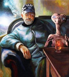 STEVEN SPIELBERG with E.T. http://adobephotoshop.ca/photo/