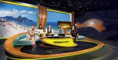 BBC studio for Rio 2016 - Design rendering. Courtesy of Studiobound.