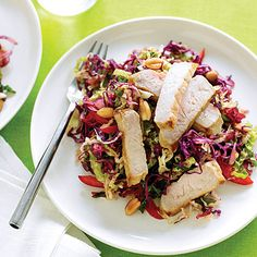 Asian Peanut Slaw with Pork Recipe - Sunset Magazine vegan peanut slaw - Vegan Coleslaw Top Recipes, Asian Recipes, Beef Recipes, Healthy Recipes, Ethnic Recipes, Asian Foods, Chinese Recipes, Quick Recipes, Healthy Eats