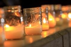 Love the jars as votives.