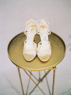 Gold Jimmy Choo Shoes @weddingchicks