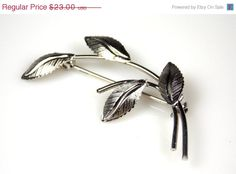 Vintage Celart Sterling Silver Textured Leaf by TheFashionDen